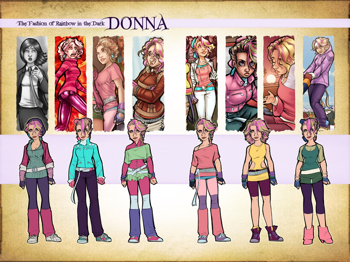 Donna Fashion Design Sketches