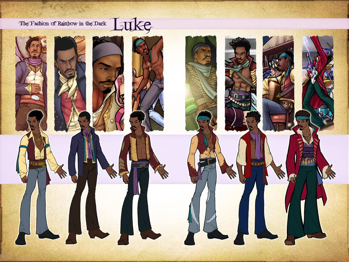 Luke Fashion Design Sketches