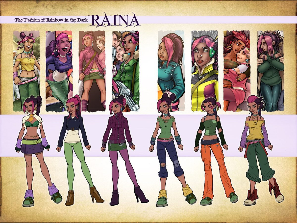 Raina Fashion Design Sketches