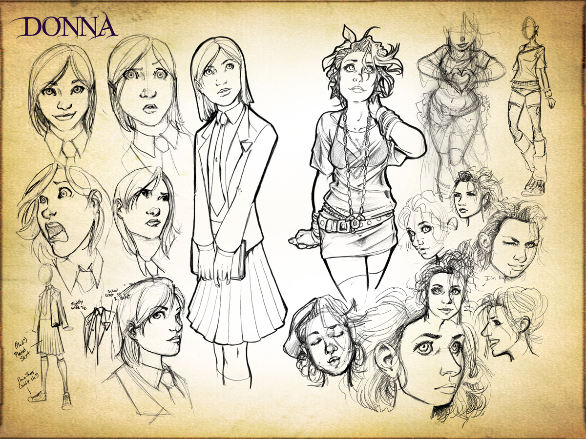 Donna Concept Design Sketches