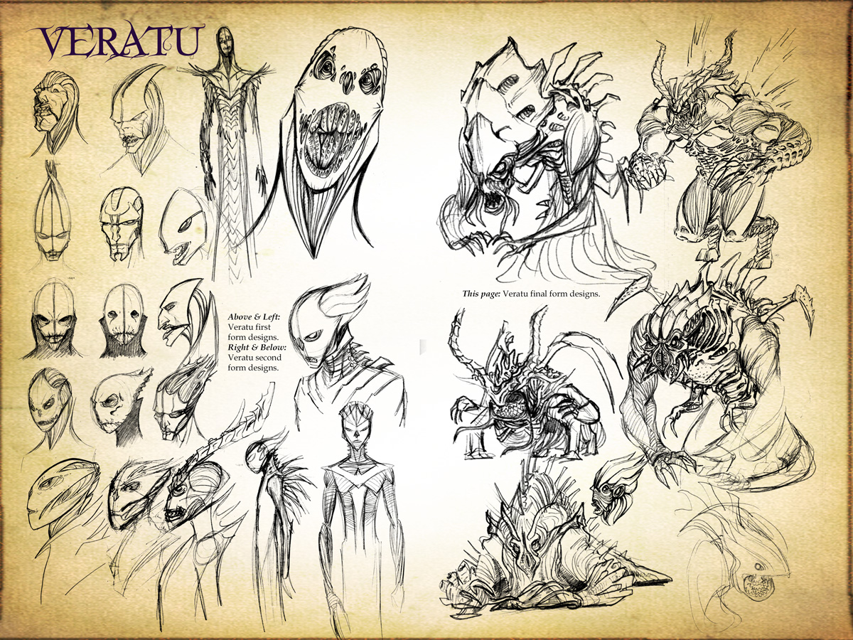 Veratu Concept Design Sketches