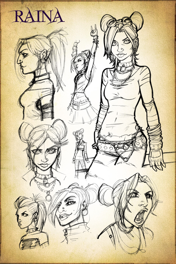 Raina Concept Design Sketches