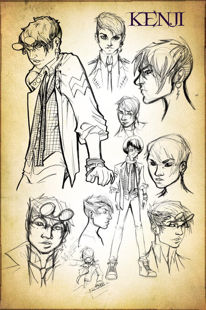 Kenji Concept Design Sketches