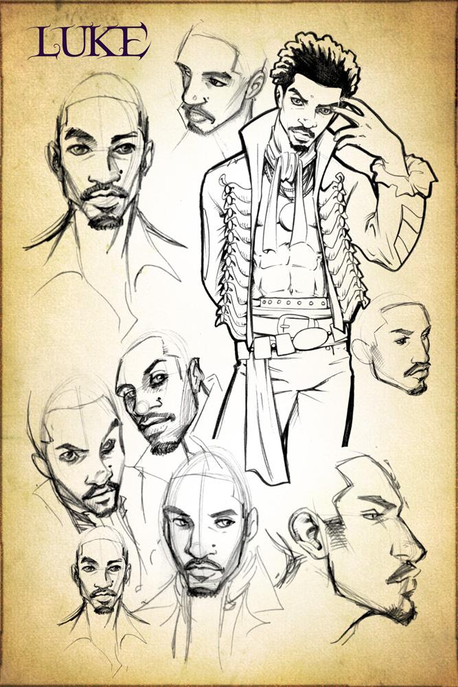 Luke Concept Design Sketches
