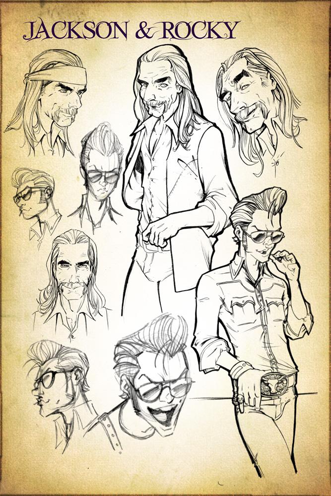 Jackson and Rocky Concept Design Sketches