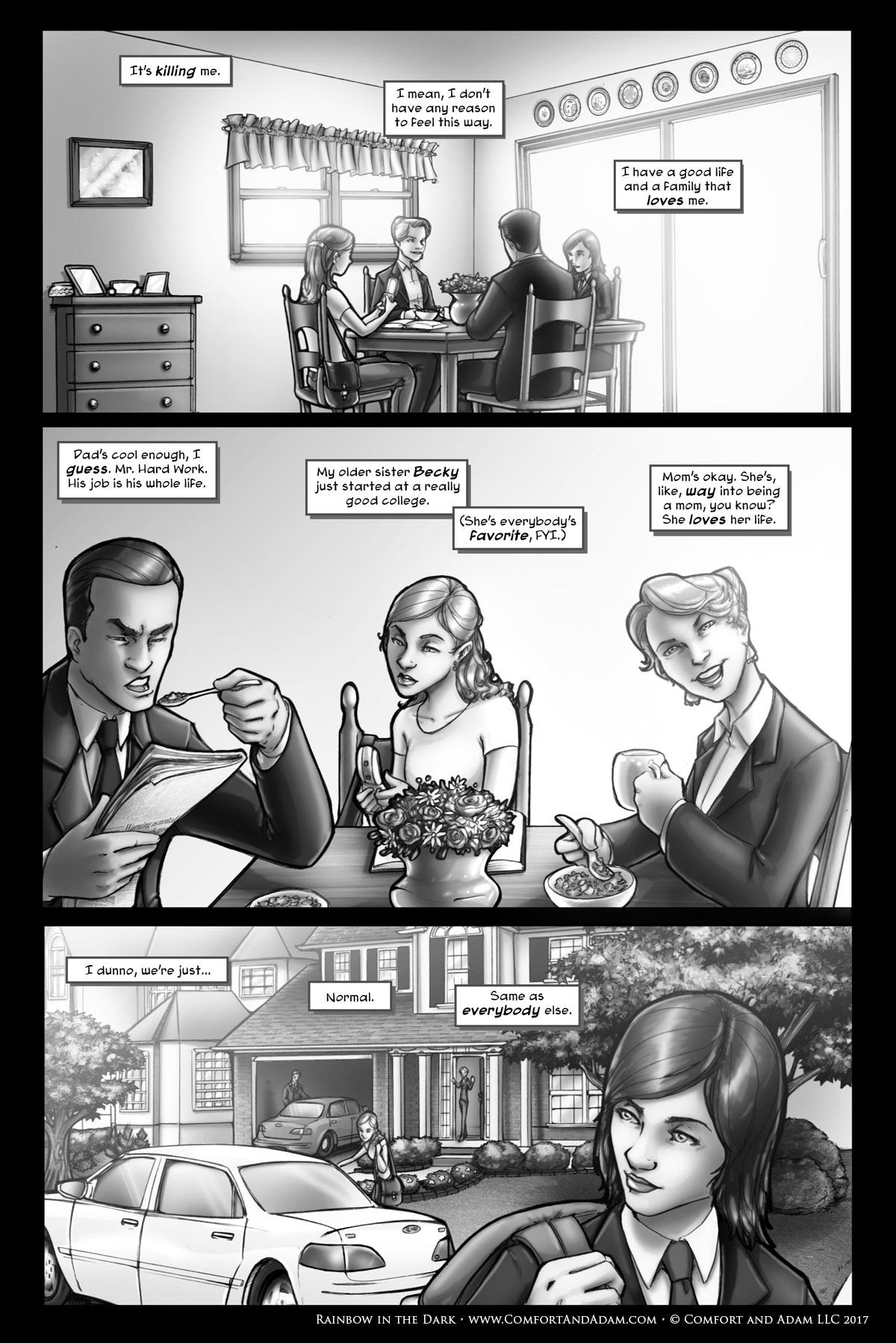 Rainbow in the Dark #1, pg. 2: Family Life