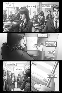 Rainbow in the Dark #1, pg. 3: High School Sucks