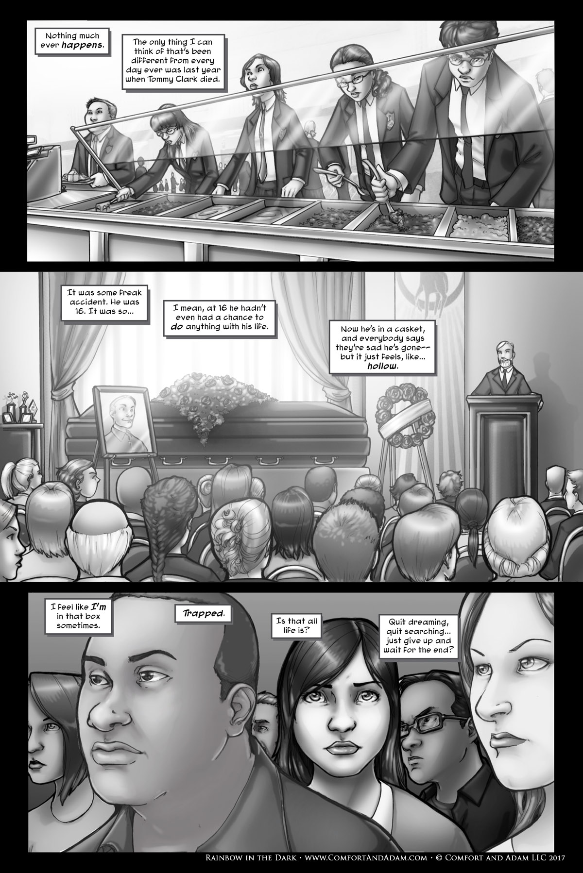 Rainbow in the Dark #1, pg. 4: Memory of a Funeral