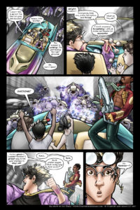 Rainbow in the Dark #1 pg. 8: Ladder Bombs