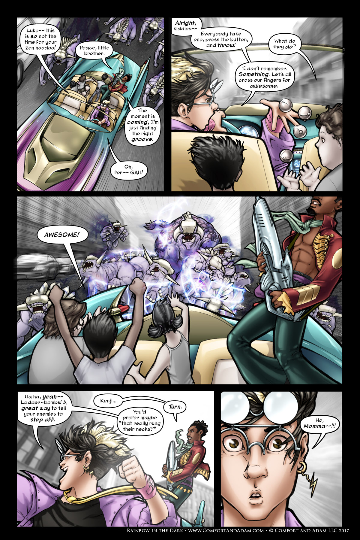 Rainbow in the Dark #1 pg. 8: Ladder Bombs
