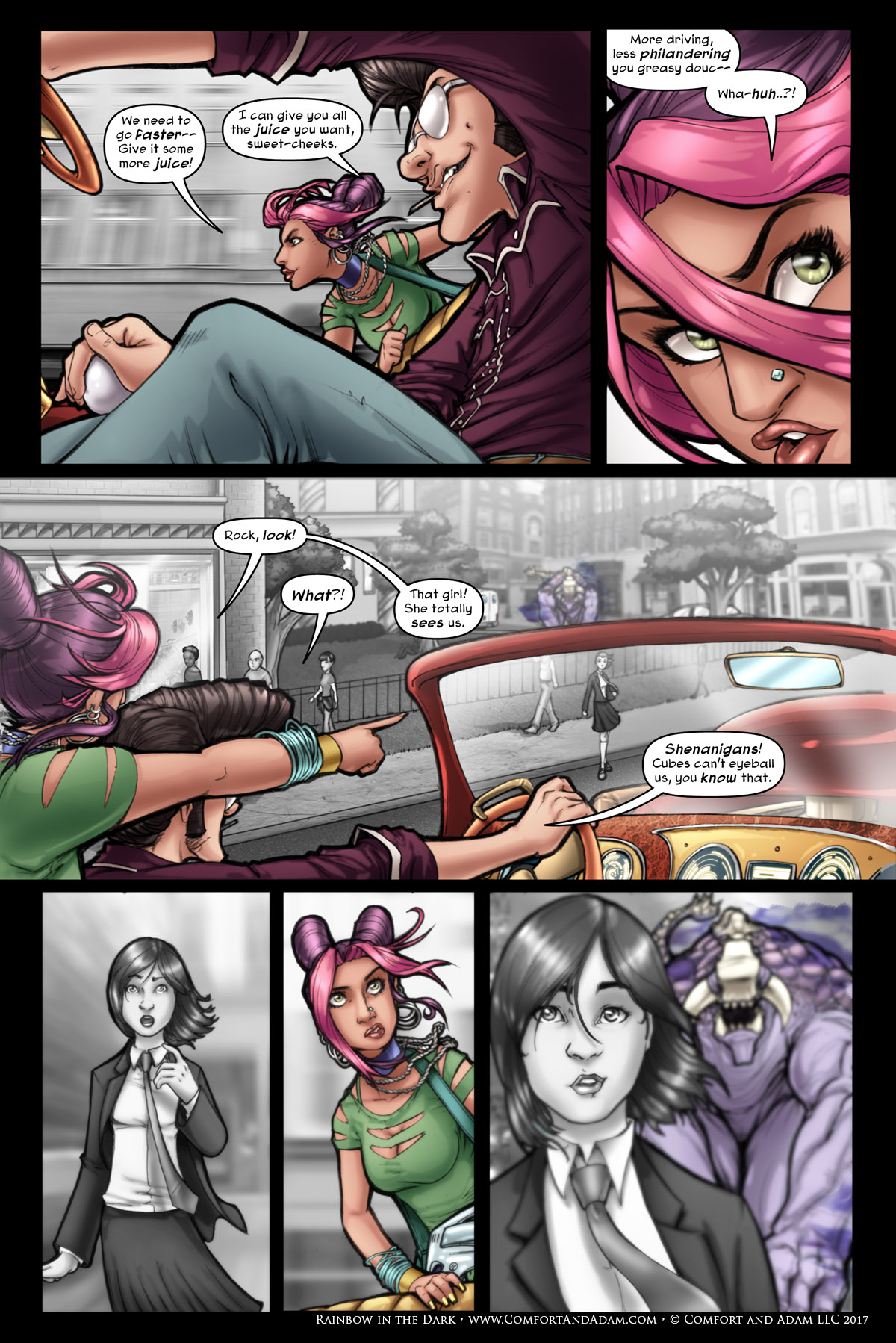 Rainbow in the Dark #1 pg. 10: Who's That Girl?