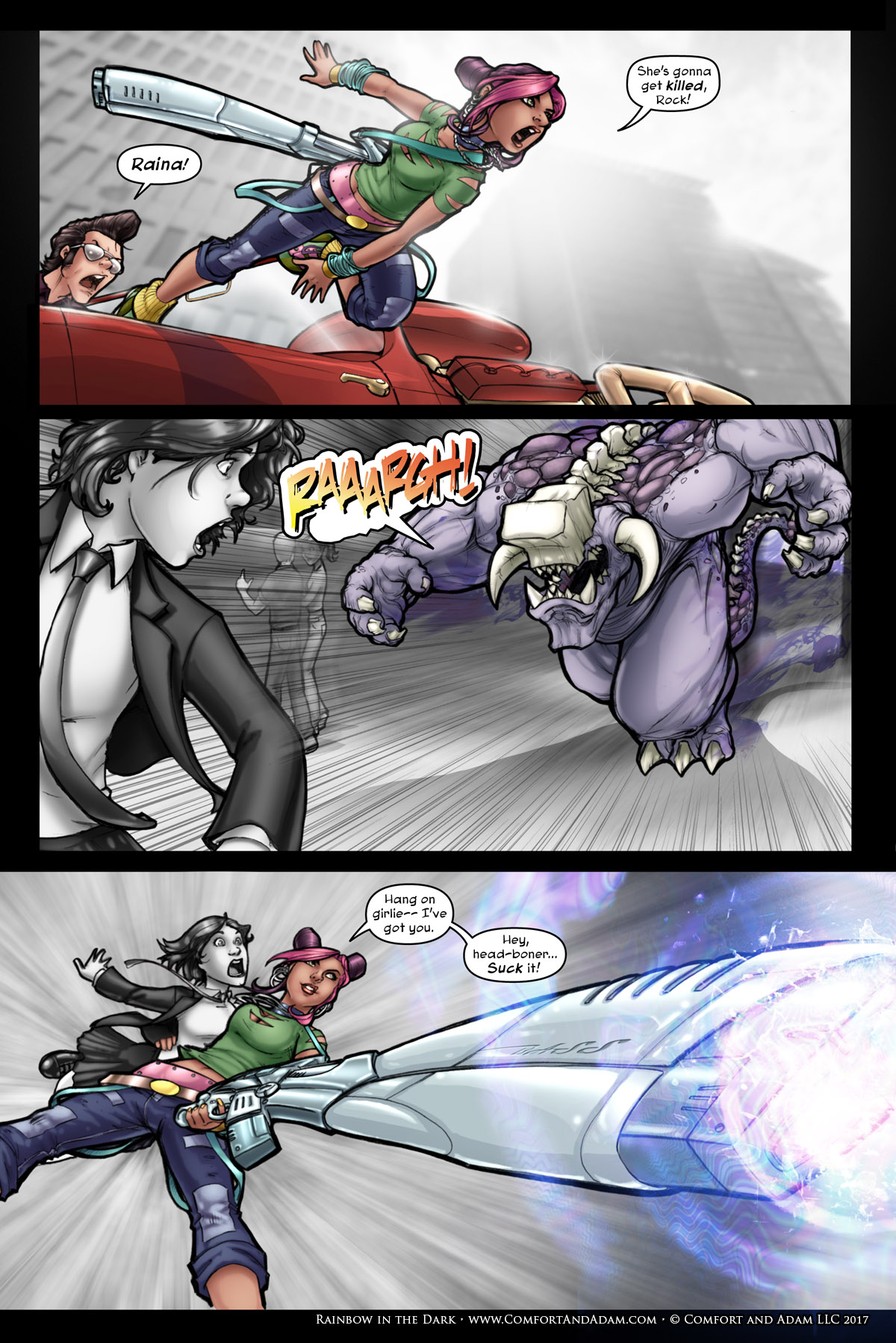 Rainbow in the Dark #1 pg. 11: Gotta Save Her!