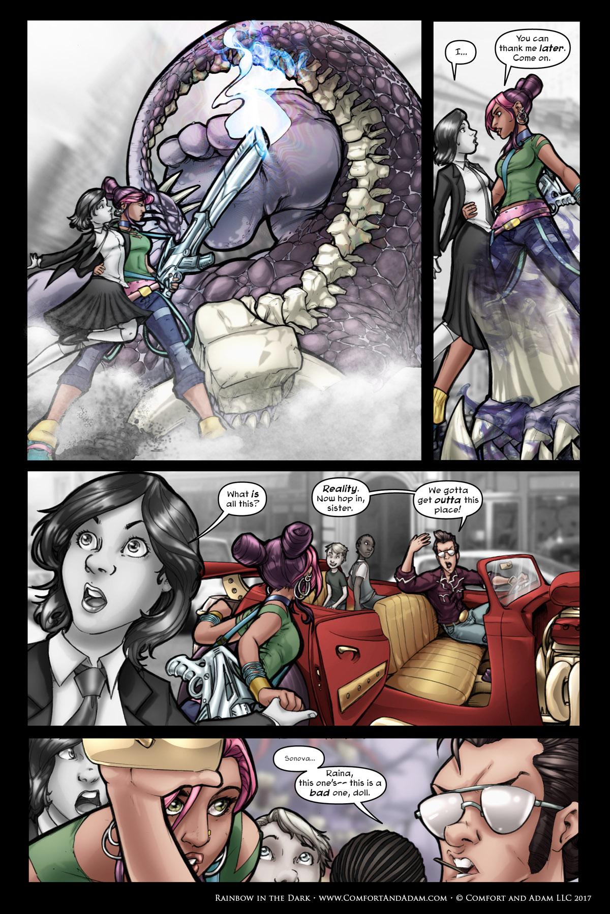 Rainbow in the Dark #1 pg. 12: Big Damn Rescue