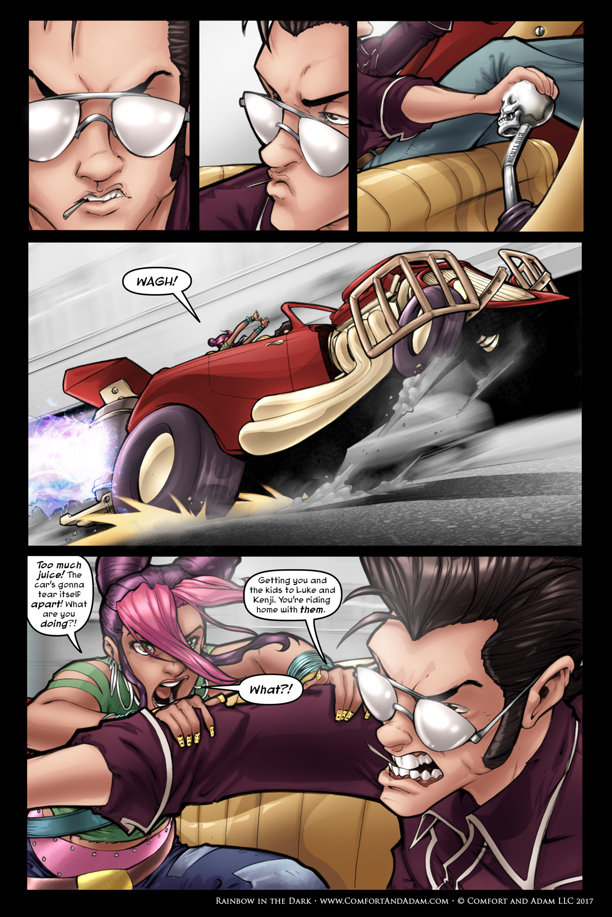 Rainbow in the Dark #1 pg. 14: Rocky's Gambit