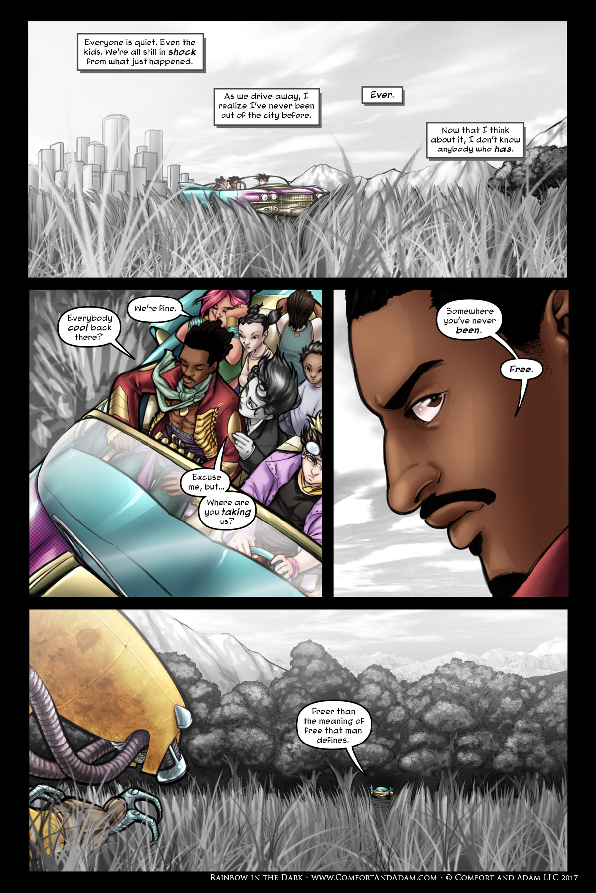 Rainbow in the Dark #1 pg. 22: Into the Woods