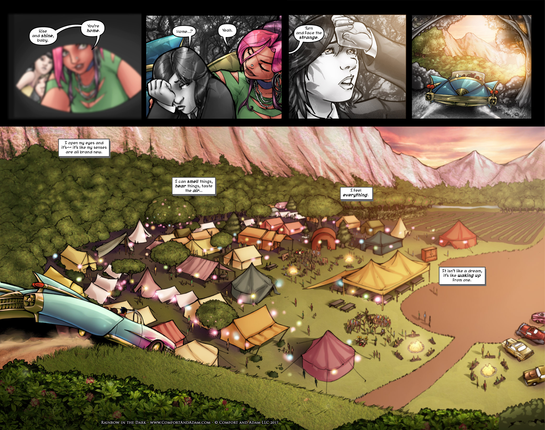 Rainbow in the Dark #1 pg. 23: The Camp