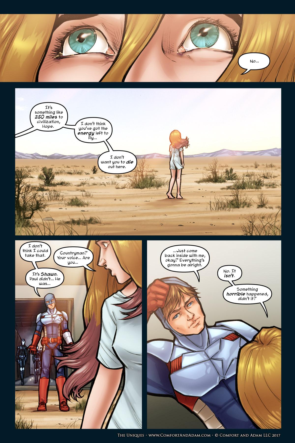 The Uniques #1 pg. 13: Countryman