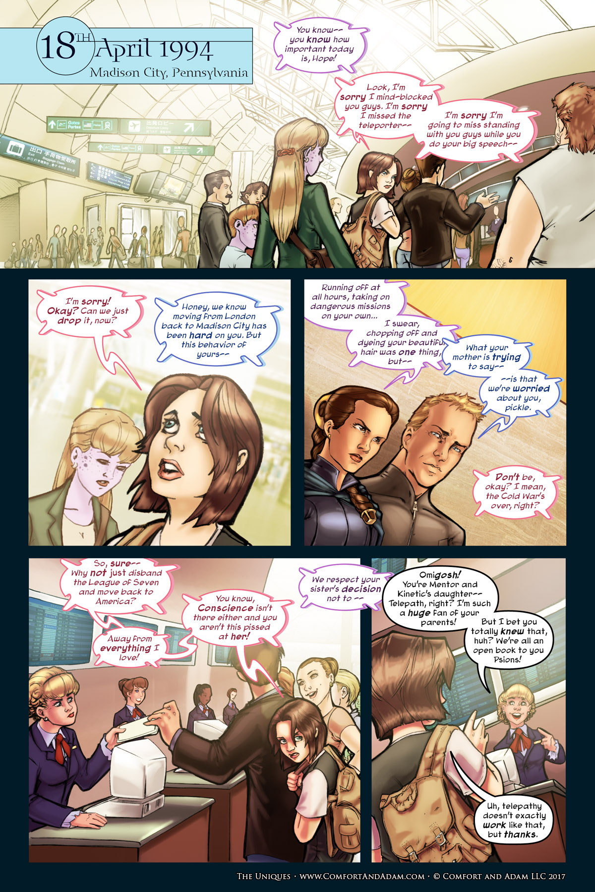The Uniques #1 pg. 15: Flashback: 1994