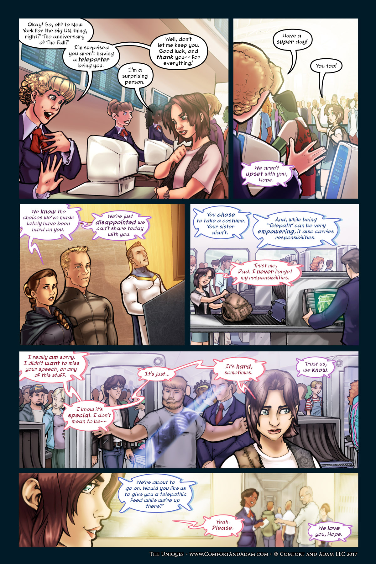 The Uniques #1 pg. 16: Airport Security