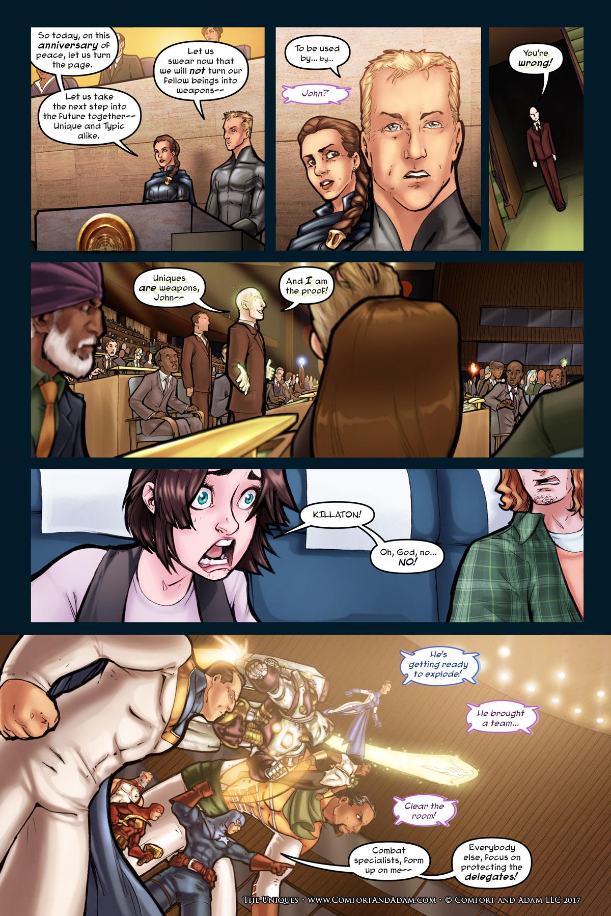 The Uniques #1 pg. 18: Killaton