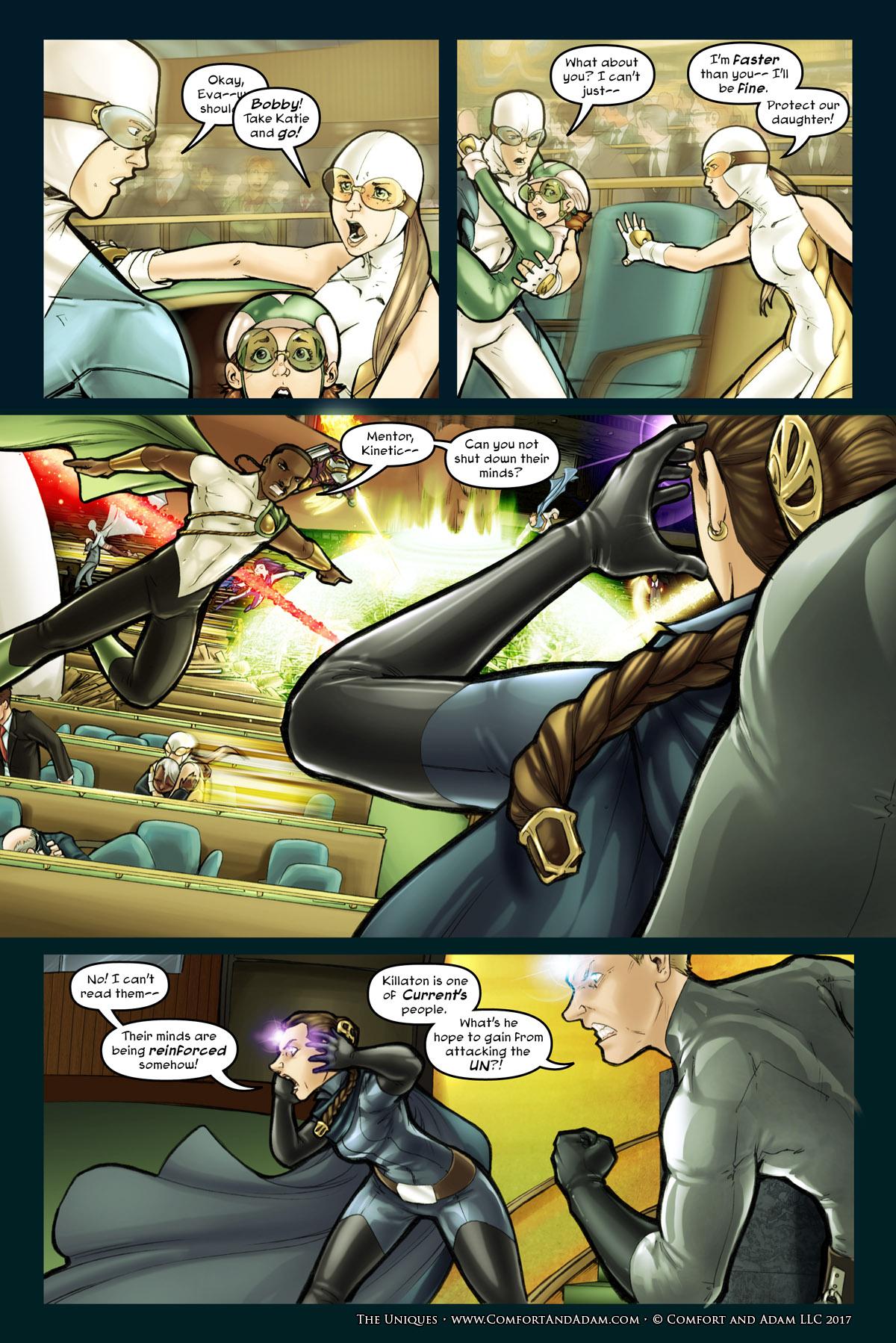 The Uniques #1 pg. 19: UN Under Attack