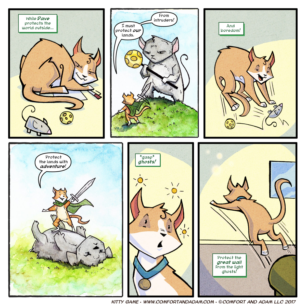 Kitty Game 09: Protecting the House