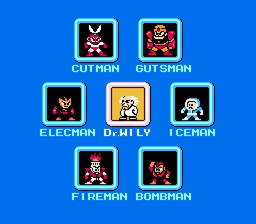 Mega Man 1 Bosses