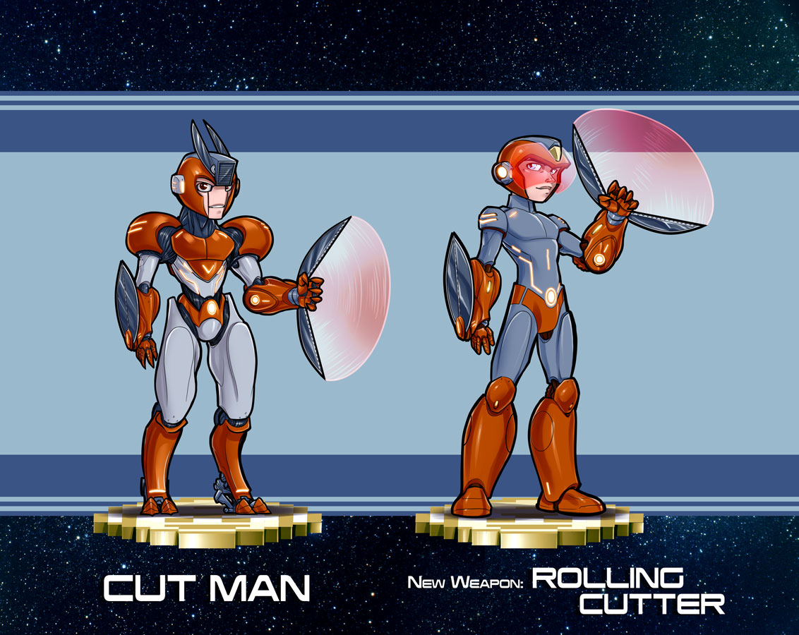 Mega Man redesign Final Cut Man Design