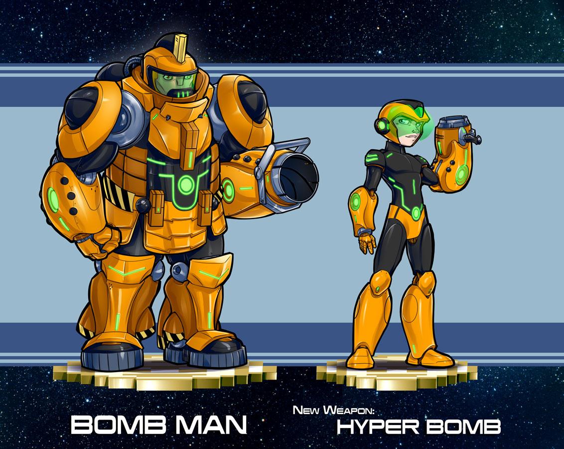 Mega Man Redesign Bomb Man
