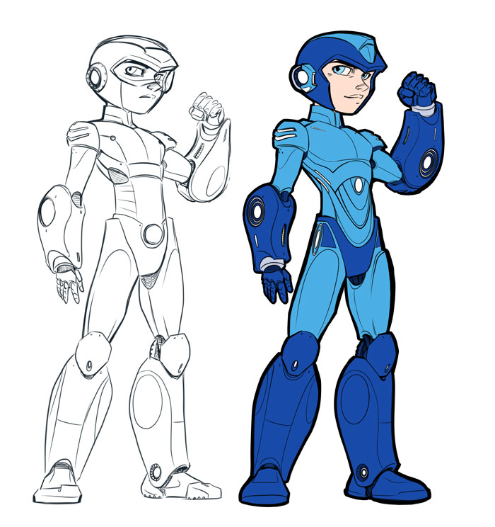 Mega Man Early Design Sketches