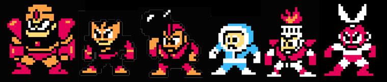 Mega Man 1 Boss Sprites