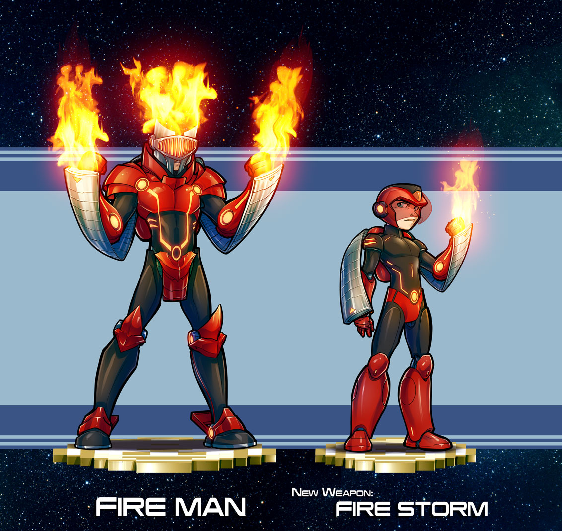Mega Man Redesign Fire Man
