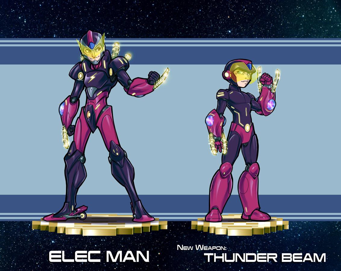 Mega Man Redesign Elec Man