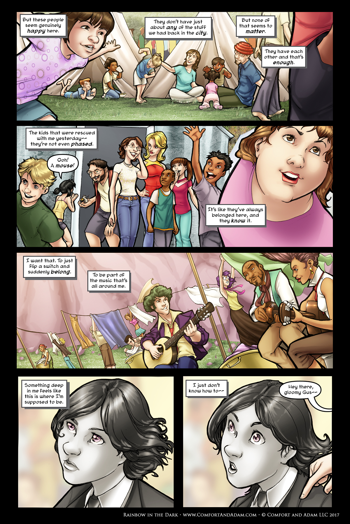 Rainbow in the Dark #2, pg. 2: A New Life
