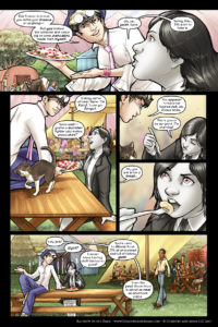 Rainbow in the Dark #2, pg. 3: Pancakes!