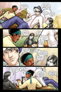 Rainbow in the Dark #2, pg. 4: Luke and Kenji