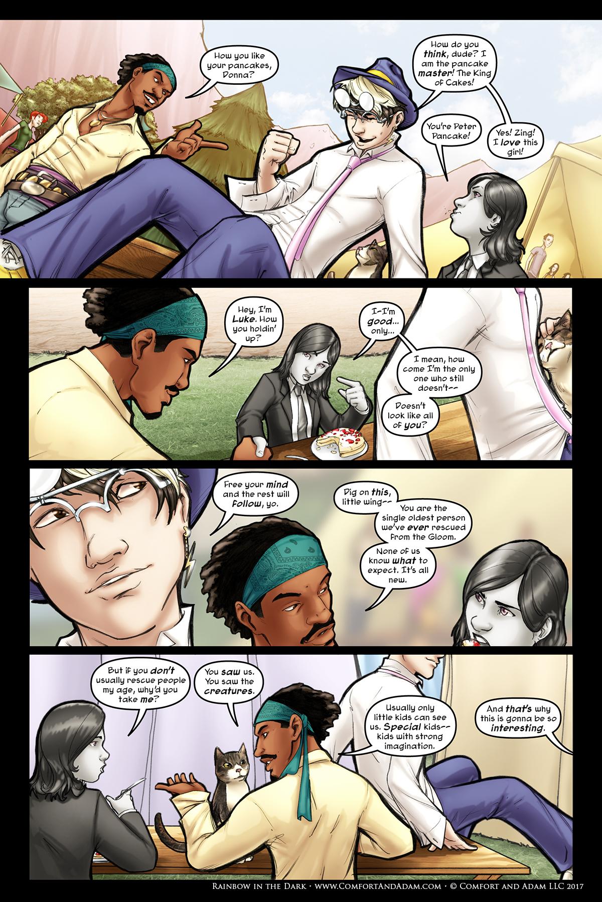 Rainbow in the Dark #2, pg. 4: Luke and Kenji