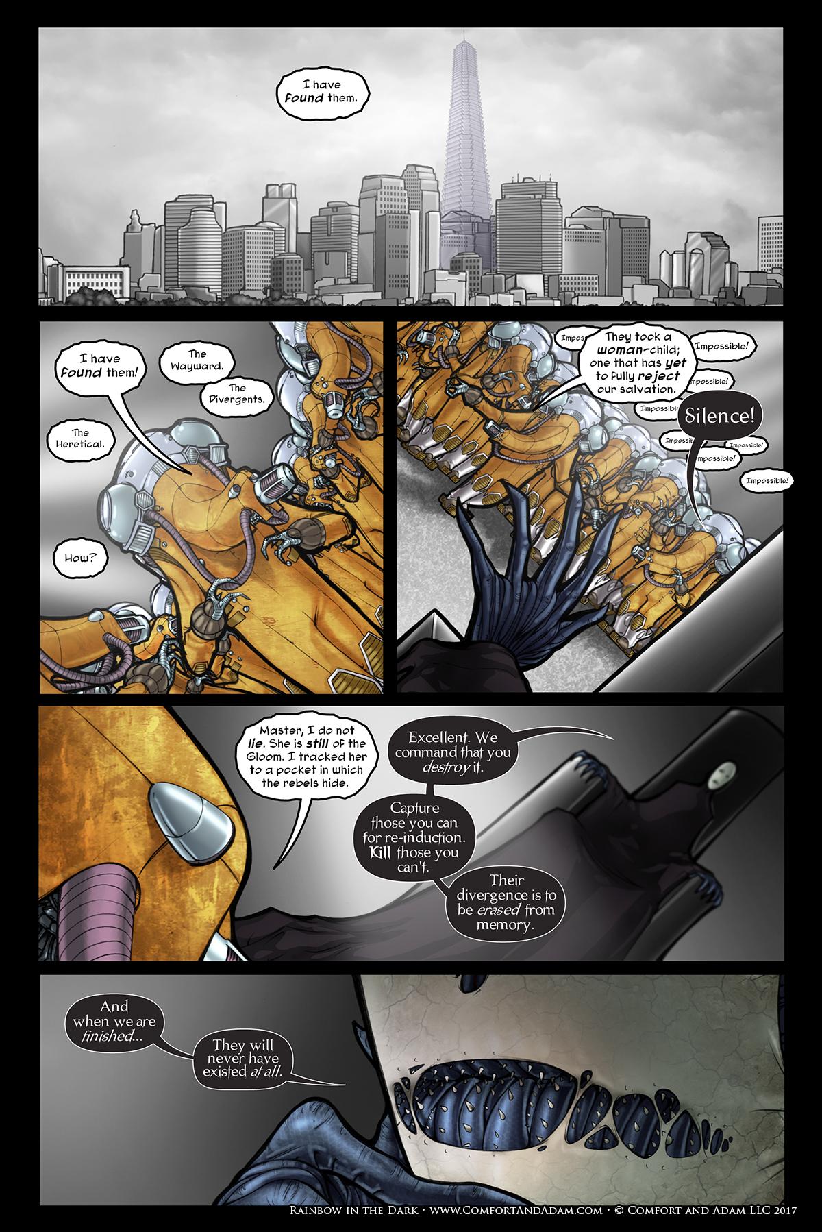 Rainbow in the Dark #2, pg. 6: Inside the Secret Tower