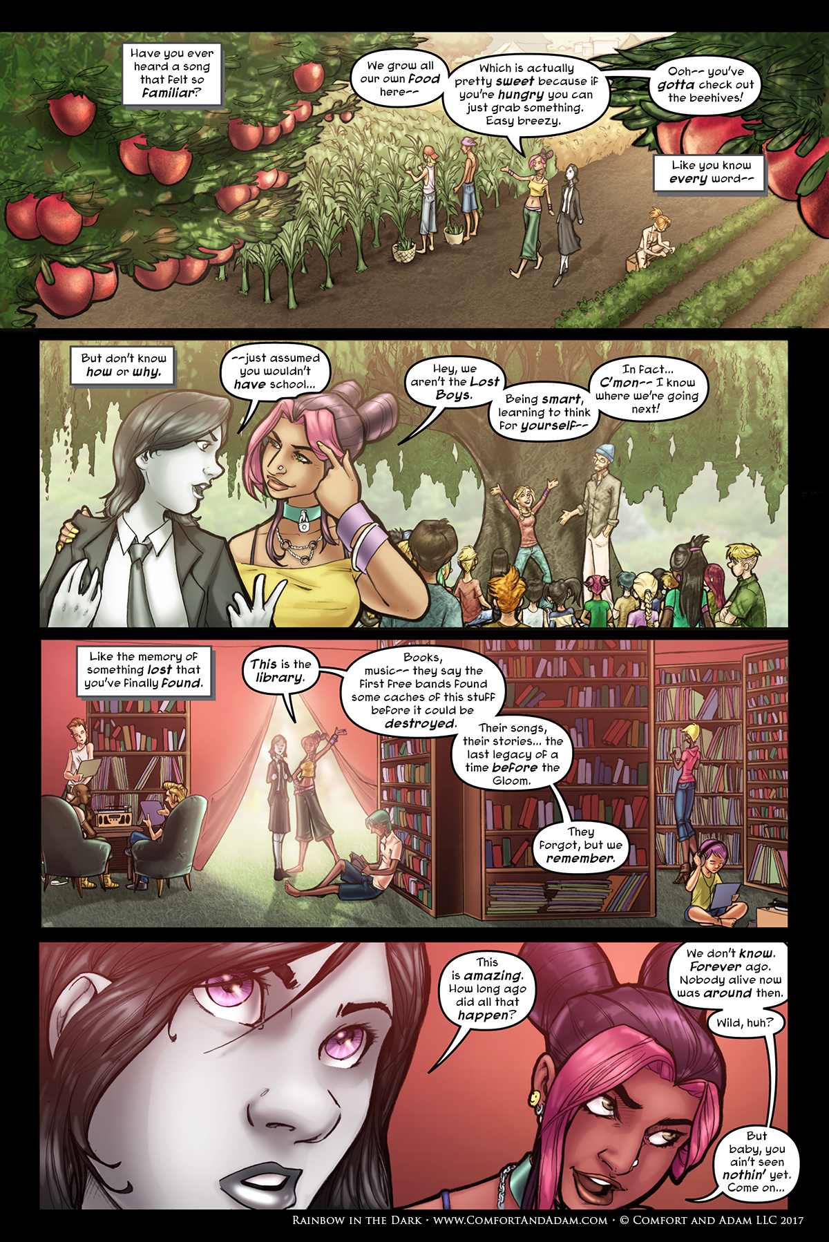 Rainbow in the Dark #2, pg. 7: Learning About the Camp