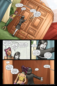 Rainbow in the Dark #2, pg. 8: The Closet