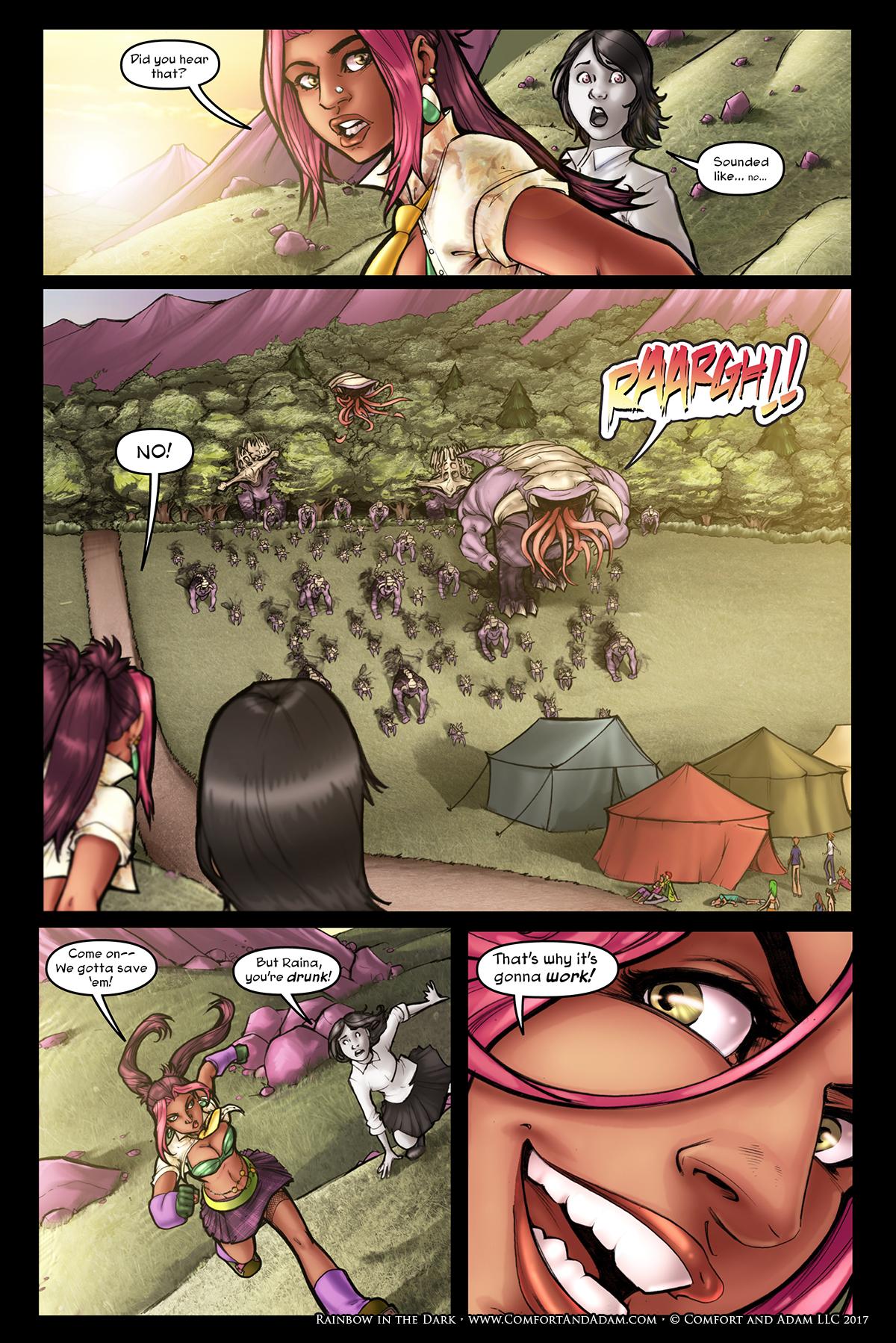 Rainbow in the Dark #2, pg. 16: Invasion