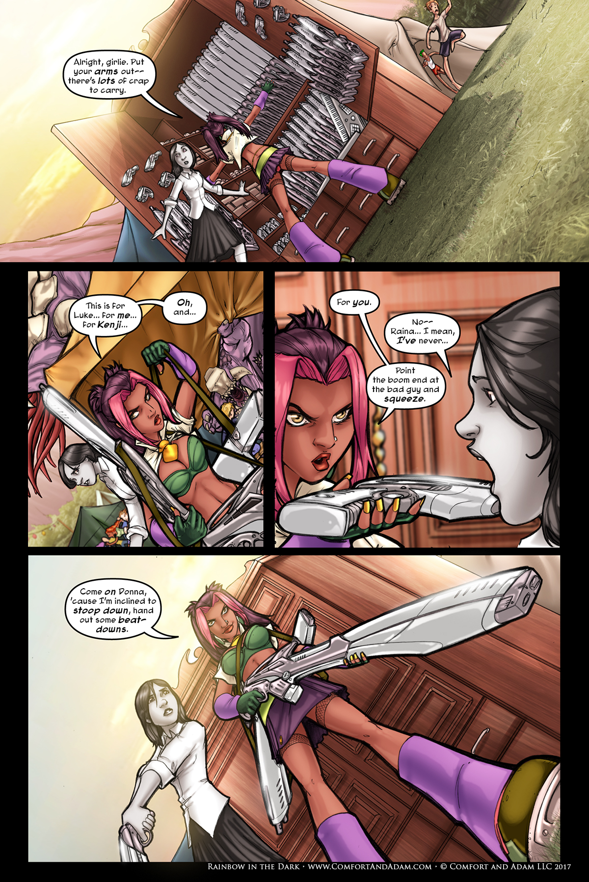 Rainbow in the Dark #2, pg. 18: Arm Yourself