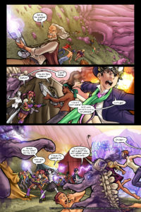 Rainbow in the Dark #2, pg. 19: Get to the Caves!