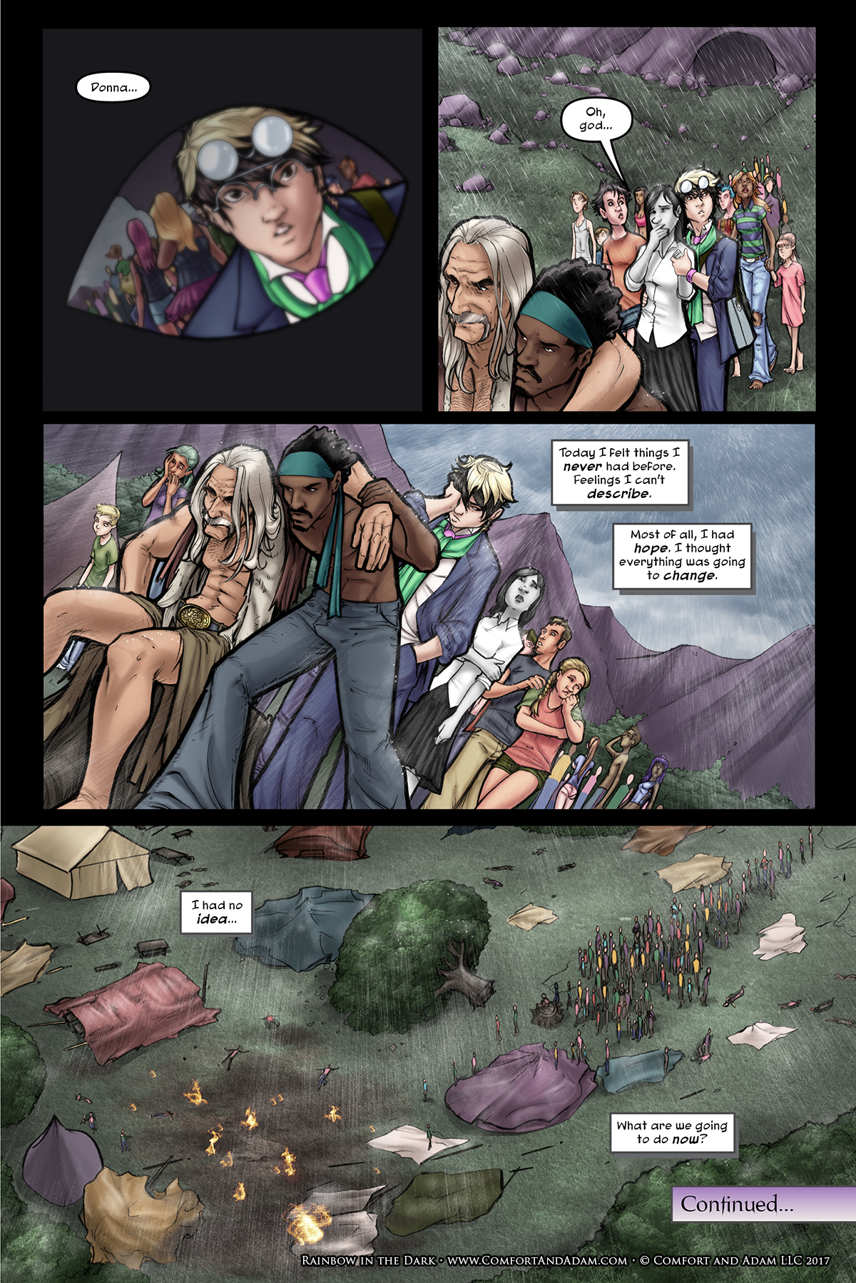 Rainbow in the Dark #2, pg. 27: The Aftermath