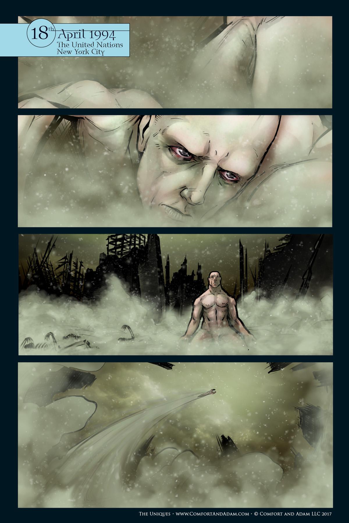 The Uniques #2, pg.1: Ashes