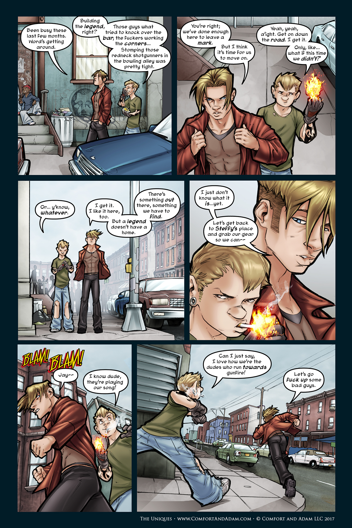 The Uniques #2, pg. 15: Sweet Street Music