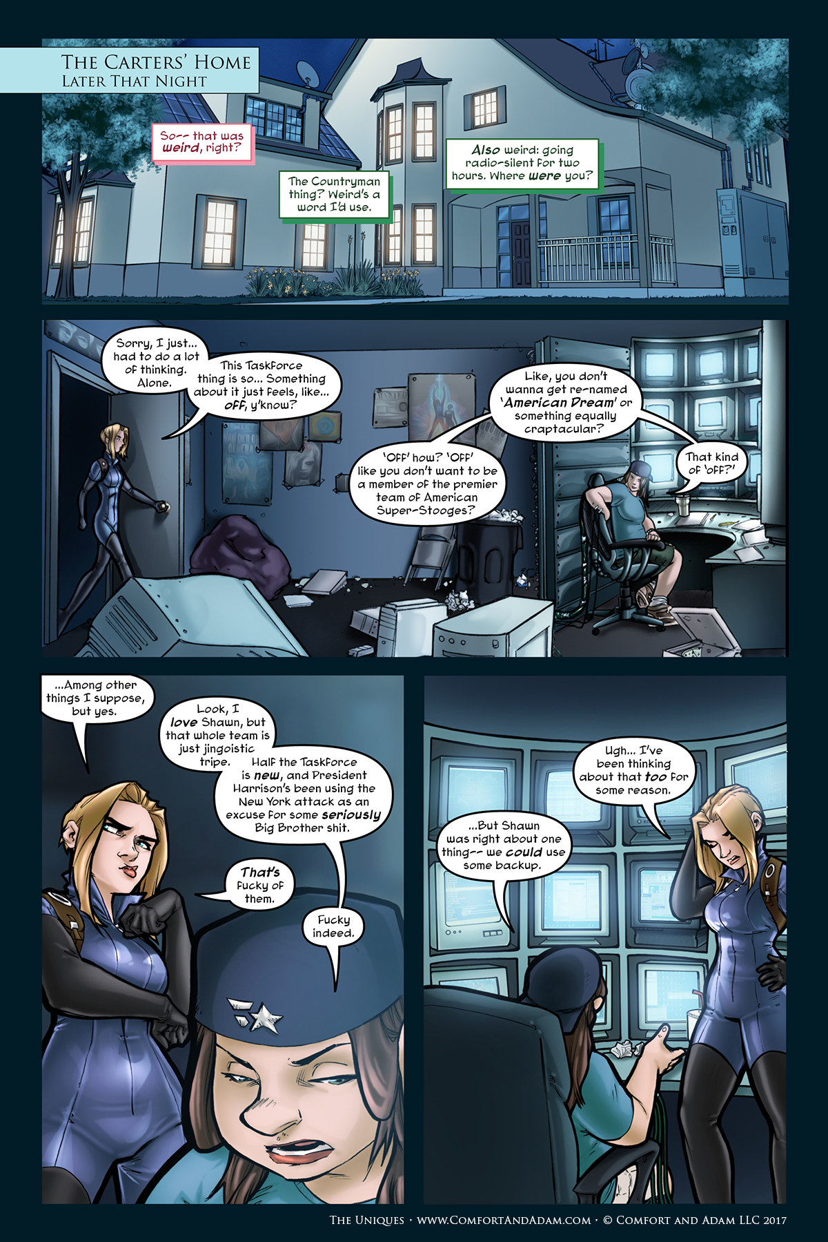 The Uniques #2, pg. 27: Motherboard's House