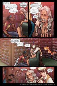 Rainbow in the Dark #3, pg. 4: Family Loss