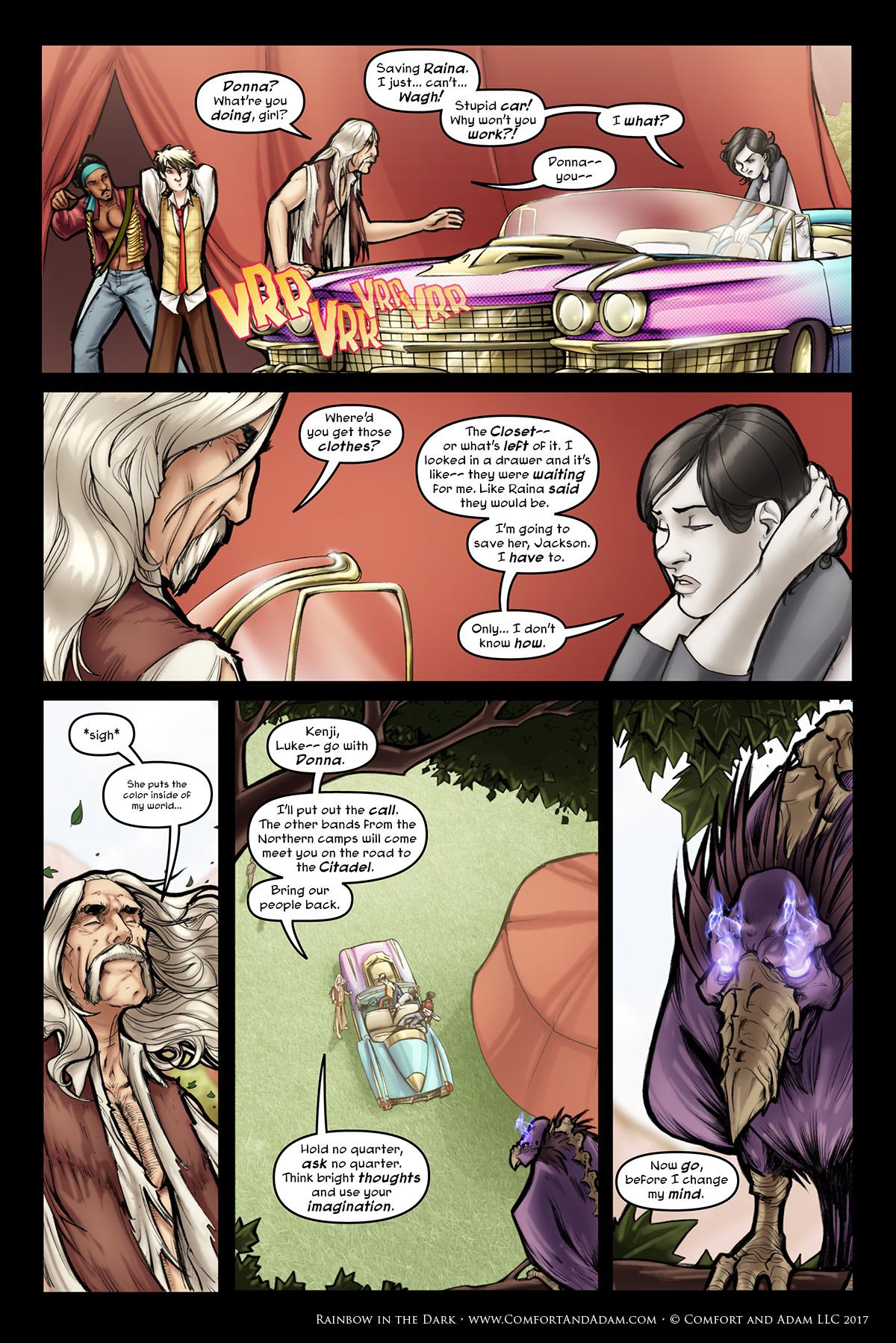 Rainbow in the Dark #3, pg. 5: Donna's Ready to Go