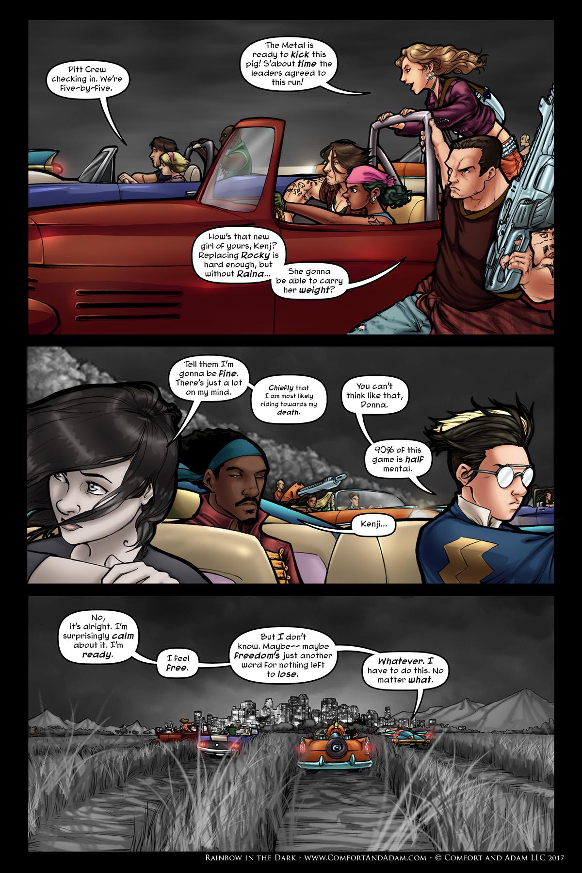 Rainbow in the Dark #3, pg. 8: Ride Hard